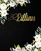 Lillian: Nifty 2020-2024 Five Year Monthly Planner & 5 Year Organizer | 60 Months Spread View Agenda with To-Do's, Inspirational Quotes, Vision Boards & Notes | Girl Name Black Velvet & Gold Floral