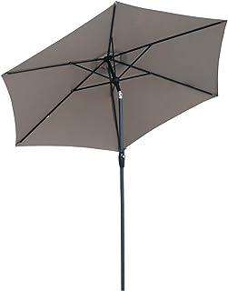 comprar comparacion Sekey® sombrilla Parasol para terraza jardín Playa Piscina Patio diámetro 270 cm Protector Solar UV50+ marrón