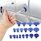 QIANRUNHR Kit d'outils de réparation de bosselage pour Voiture, kit de débosselage de Voiture, extracteur de Pont et Pistolet à Colle pour carrosserie Automobile, Moto
