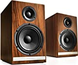 Audioengine HDP6 Passive Speakers Bookshelf Speakers Pair | Home Stereo High-Powered 2-Way Desktop Speakers | AV Receiver or Integrated Amplifier Required (Walnut)