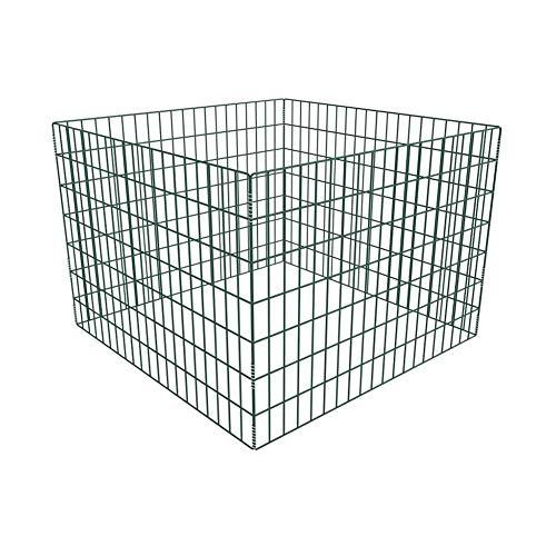 Komposter, Metallkomposter Gartenkomposter Kompostbehälter, 100 x 100 x 70 cm (L x B x H), pulverbeschichteter Stahl