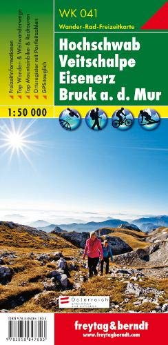 WK 041, Hochschwab - Veitschalpe - Eisenerz - Bruck a.d. Mur, Wanderkarte 1:50.000, freytag & berndt Wander-Rad-Freizeitkarten