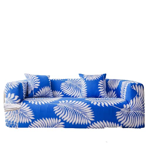 Washed Non-Slip Polyester Sofa Cover For Home Living Room, High Elastic Sofa Cover With Shrink Rope 1 seater (90-140 cm)
