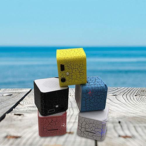 BEAYPINE Faros–Bombilla Luz Introdujo a Mini–Portable Altavoz Altavoz TF Card Slot USB–Soporte para la Fiesta de Halloween–Estudio Yoga–Oficina