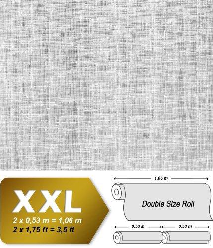 Struktur Vliestapete Streichbar EDEM 350-60 GROSSROLLE zum Überstreichen dekorative Struktur tapete weiss | 26,50 qm - 4