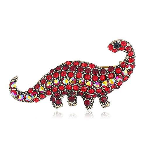 Exquisitos Broches Mujeres joyería de Moda, Dinosaurio de dibujos animados en forma de broches Pin Bohemia Vintage Collar Joyería Regalo de moda para la camisa Abrigo Vestido Ropa Bolsas Mochilas Rega