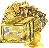 (30 pairs) Crystal 24K Gold Powder Gel Collagen Eye Mask, Premium Eye Treatment Mask, Anti Aging & Wrinkle, Moisturise for Under Eye, Wrinkles, Remove Eye Bags, Dark Circles, Hydrating, Puffy Eyes