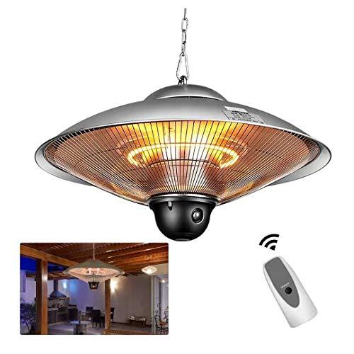 Calentador de patio 2500W Calentador de paraguas eléctrico colgante 2 configuraciones de...
