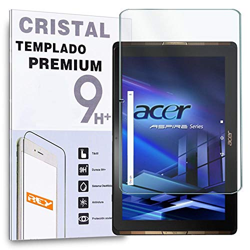 "REY Protector de Pantalla para Acer ICONIA Tab 10 A3-A40 10.1"", Cristal Vidrio Templado Premium Táblet"