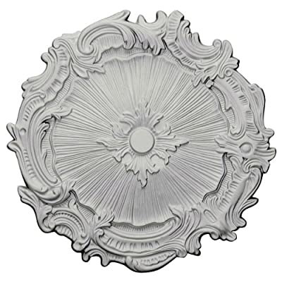 "Ekena Millwork CM16PLACS Plymouth Ceiling Medallion fits Canopies up to 1 5/8"", Antique Copper"