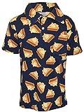 Unique Baby Boys Pumpkin Pie Thanksgiving Collared Polo T Shirt (2t, Pie)