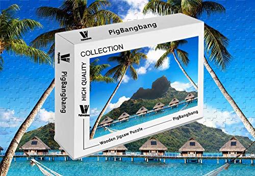 PigBangbang,Basswood with Glue Home Decoration -Bora Bora French Polynesia Best Beaches of - 300 Piece Jigsaw Puzzle (20.6 X 15.1'')
