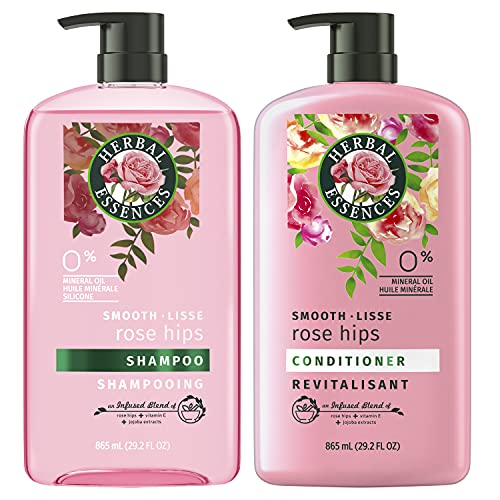 Herbal Essences Shampoo and Conditioner, Vitamin E, Rose Hips and Jojoba Extract, Smooth Collection,...