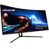 Nixeus EDG 34 Ultrawide 3440 x 1440 AMD Radeon FreeSync Certified 144Hz 1500R Curved Gaming Monitor with Tilt Only Stand (NX-EDG34S)