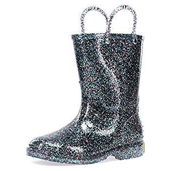 Western Chief Girl s Glitter Waterproof Rain Boot Multi 7 Toddler