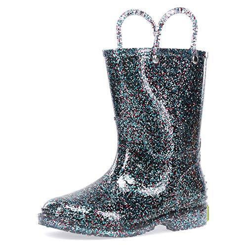 Western Chief Girls Glitter Rain Boot, Multi, 12 M US Little Kid