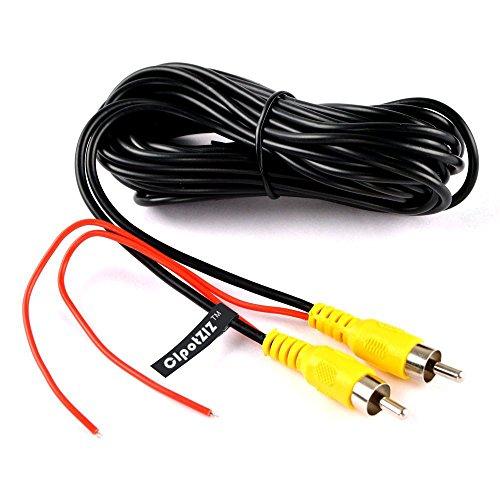 Cable de video RCA, Cable de video para cámara de estacionamiento con vista trasera reversa del automóvil con cable de detección (6 metros)