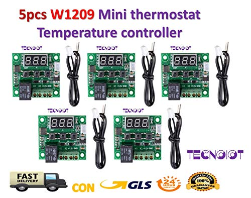 5pcs W1209 Digital Cool Heat temp Thermostat Thermometer Temperature Control DC12V