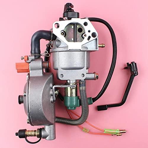 LSB-SHOWER Repuestos para Herramientas eléctricas Carburador Dual Carb Compatible con Honda Gx390 13Hp Chino 188F 190F Generador Gasolina