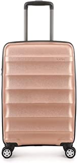 Antler Juno Metallic DLX 4W Cabin Roller Case, Rose Gold, 56cm