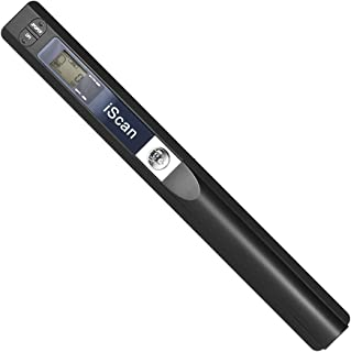 Aibecy Portable Handheld Wand Wireless Scanner Formato A4 900 DPI JPG/PDF Display LCD formato con sacchetto protettivo per documenti aziendali Libri Reciepts Immagini