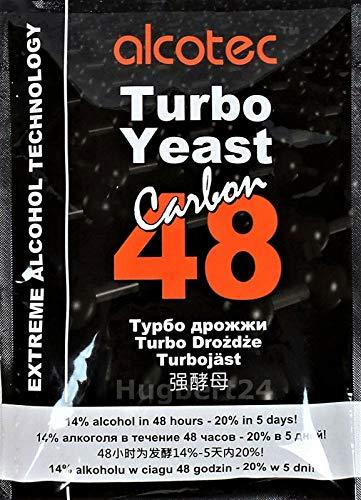AlcoTec HUGBERT 48 Carbon Turbo, Alkohol, Gärhefe, Hefe, Schnaps, Brennhefe, Destillation, 10 Stück