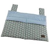 Bettutensilo, Wandutensilo, Betttasche mit 2 Taschen, Klettverschluß, 39x26cm, Blume blau mint ❤ SmukkeDesign NEU