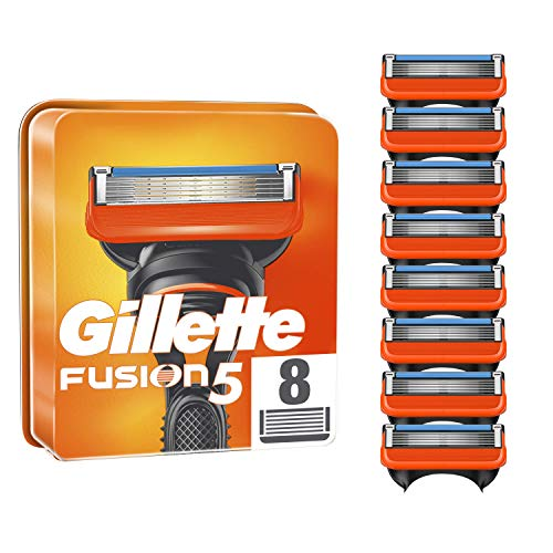 Gillette Fusion5 Razor Blades for Men, Pack of 8 Refill Blades (Suitable...
