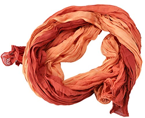 Guru-Shop Batiktuch, Batikschal, Batiksarong, Herren/Damen, Orange, Baumwolle, Size:One Size, 160x100 cm, Tücher Alternative Bekleidung