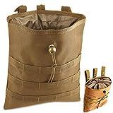Gexgune Molle System Tactique Molle Dump Magazine Pouch Chasse Récupération Sac Pochette Accessoires Militaire (Tan)