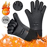 BBQ Gloves, Extreme Heat Resistant Oven Gloves, Ideal for Barbecue Grilling Cooking