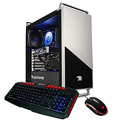 iBUYPOWER Pro Gaming PC Computer Desktop 136A (AMD Ryzen 5 3600 3.6GHz, NVIDIA RTX 2060 6GB, 16GB DDR4 RAM, 240GB SSD, 1TB HDD, WiFi Ready, Windows 10 Home)