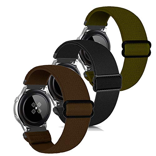 Zoholl muñequeras elásticas de Repuesto,compatibles con Samsung Galaxy Watch 3 41mm/Galaxy 42mm/Active 40mm/Huawei 2/Gear S2 Classic/Sport/Ticwatch 2 Hombres Mujeres(3 Paquetes)