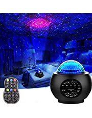JAMIE 3 in 1 Star Galaxy Projector Moving Ocean Wave Night Light for bedroom with Remoter, LED Smart Starry Space Projector with Bluetooth Music Speaker for Baby Kids/Room/Party/Gift (Black)