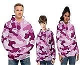 Felpa Uguale Uomo e Donna Bambino Costumi Famiglia Abbinati Maglia Coordinate Felpe con Cappuccio e Tasca a Marsupio Blusa Manica Lunga Pullover Autunno Inverno Camicia Camouflage Hoodie N12434YH03XS