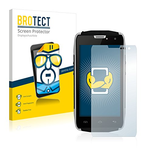 BROTECT Schutzfolie kompatibel mit Doogee Titans2 DG700 (2 Stück) klare Bildschirmschutz-Folie