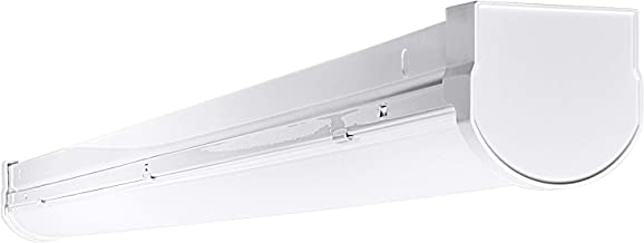 Luxrite 3FT Slim Linear LED Shop Light Fixture, 26W, 4000K (Cool White), 2650 Lumens, Damp Rated, LED Garage Ceiling Light Fixture, 120-277V, ETL Listed - Perfect for Garage and Shed Lighting