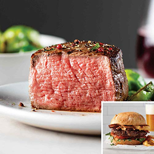 The Family Pack from Omaha Steaks (Butcher's Cut Filet Mignons and Omaha Steaks Burgers)
