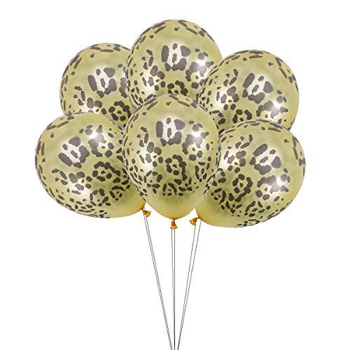 Amosfun 6 stks Latex Ballonnen Luipaard Print Party Ballonnen Voor Verjaardag Bruiloft Baby Douche Party Decoraties benodigdheden