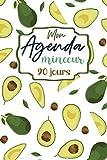 Mon agenda minceur 90 jours: agenda de suivi régime alimentaire | Mensurations, bilan mensuel | journal à compléter | chaque jour une astuce, un ... motivante | planificateur carnet minceur