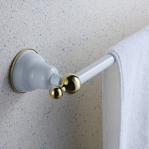 almacenamiento en la pared Toallero de barra simple pintura original toallero de barra simple de alto grado seguro blanco