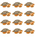 Wildlife Tree 12 Pack Tortoise Turtle Mini 4 Inch Small Stuffed Animals, Bulk Bundle Zoo Animal Toys, Jungle Safari Party Favors for Kids