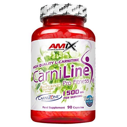 Amix - Carniline Pro Fitness 2000 - Suplemento Alimenticio - Activa el Metabolismo - Mejora del Rendimiento - Nutrición Deportiva - Contiene 90 Cápsulas