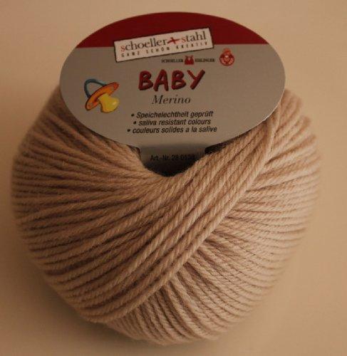 Baby Merino Schoeller + Stahl Merinoschurwolle Babywolle 25 g Farbe 3945-beige
