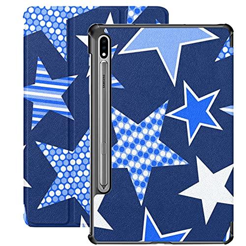 Custodia per Galaxy Tab S7 Custodia Sottile e leggera Custodia Cover per Samsung Custodia per Galaxy Tab S7 Tablet 11 pollici Sm-t870 Sm-t875 Sm-t878 2020 Release, Blue Stars And Stripes