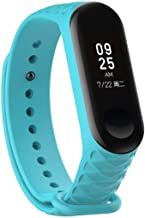 FOR XIAOMI Mi Band 3 Fashion Sport Soft Silicone Replacement Wristband Wrist Strap Light blue