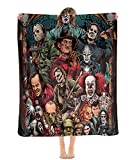 Halloween Classic Horror Movie Michael Myers Ultra-Soft 3D Printing Fleece Throw Blanket for Couch Sofa Or Bed Throw Size Super Cozy and Comfy for All Seasons
