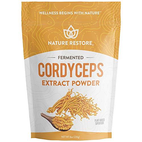 Cordyceps Sinensis Mushroom Powder, 8 Ounce, Mycelium Liquid Fermentated, Authenticated CS4, Standardized to 10 Percent Cordycepic Acid, Vegan, Non GMO