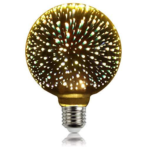LightingDesigner Edison Classic - Bombilla 3D (casquillo E27, 240 V, casquillo AC85-240 V), Plateado, E27 4.00W 240.00V
