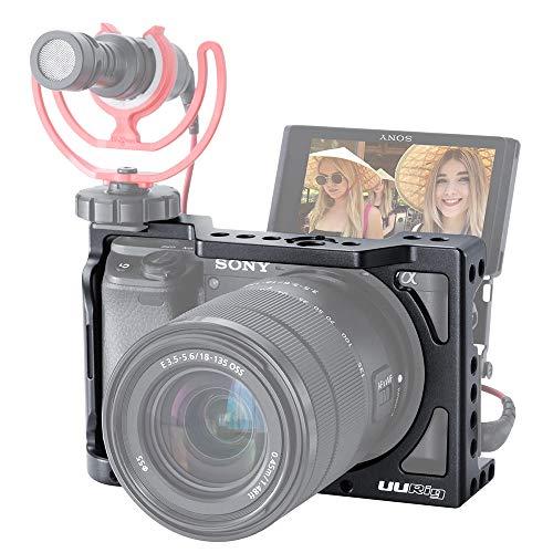 """UURig C-A6400 Cage de caméra pour Sony A6400 A6300 A6100 Vlogging Boîtier d'extension Support pour Sabot de Poche Support pour Lampe/vidéo Montage sur vidéo Rig Universel Vis à 1/4""""pour poignée"""